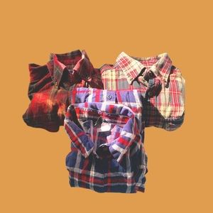 2 Faded Glory Med, and 1 Divided flannel Sml